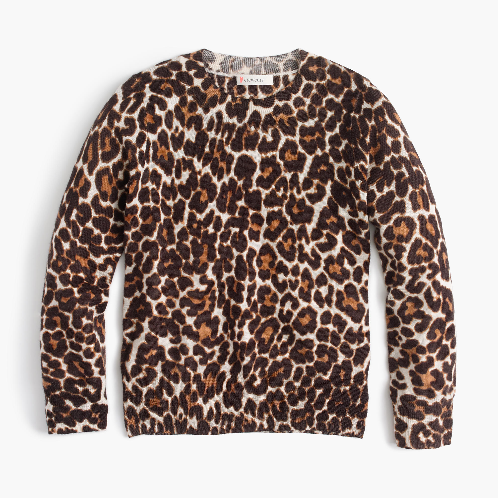 Girls' Leopard-Print Popover Sweater : Girls' Sweaters | J.Crew