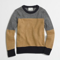 Boys' colorblock crewneck sweater