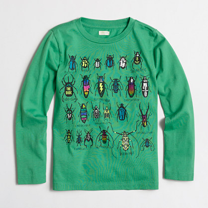 Boys' long-sleeve beetles storybook T-shirt