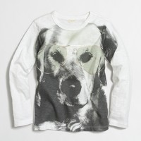 Boys' long-sleeve dog in glasses storybook T-shirt