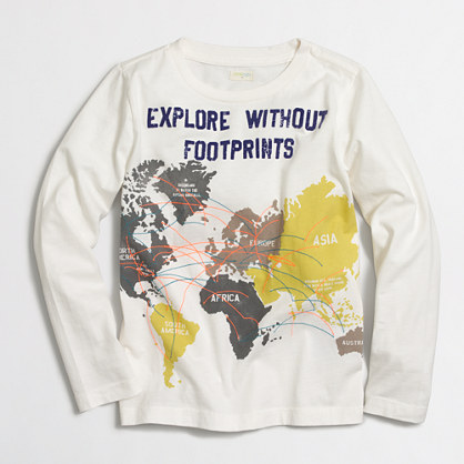 Boys' long-sleeve explore storybook T-shirt