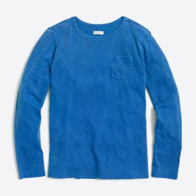 Boys' long-sleeve sunwashed garment-dye pocket tee factoryboys knits & t-shirts c