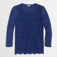 Lace-front T-shirt