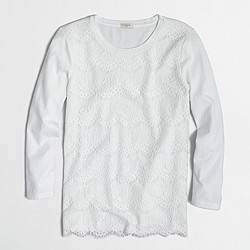 Factory lace-front T-shirt