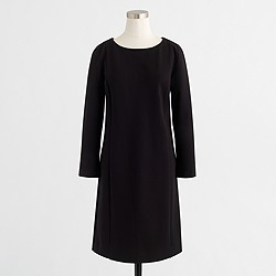 Petite long-sleeve ponte dress