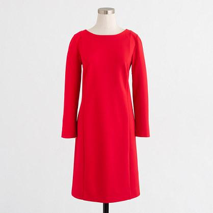 Long-sleeve ponte dress