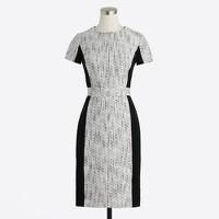 Colorblock tweed dress