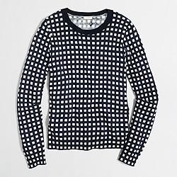 Grid print Teddie sweater