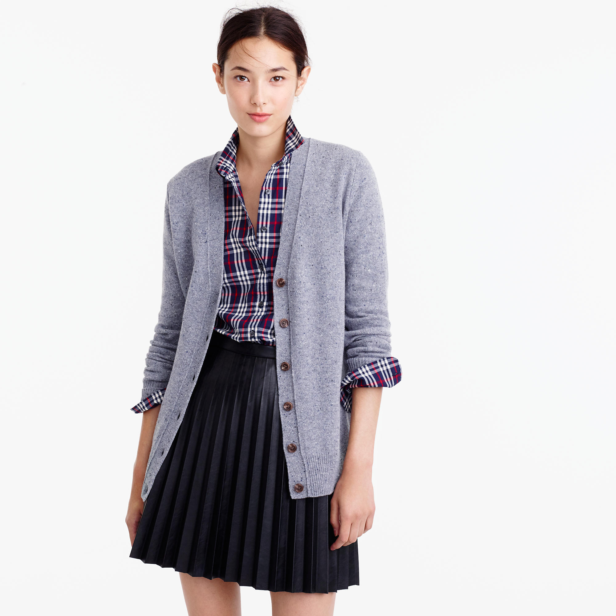 Classic V-Neck Cardigan In Donegal Wool : Women's Sweaters | J.Crew