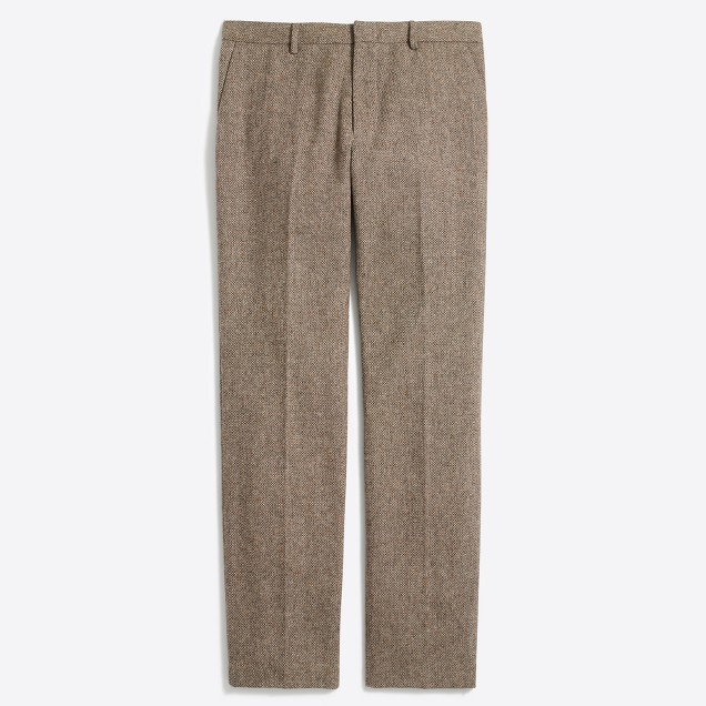 Slim suit pant in bird's-eye tweed wool