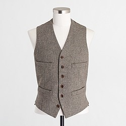 Thompson vest in bird's-eye wool