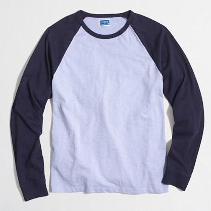 Long-sleeve slub baseball T-shirt
