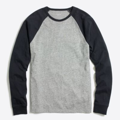 Long-sleeve slub baseball T-shirt