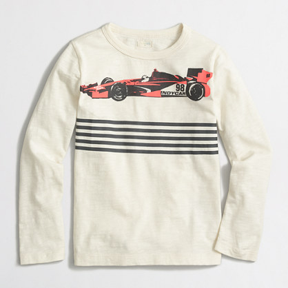 Boys' long-sleeve race car storybook T-shirt