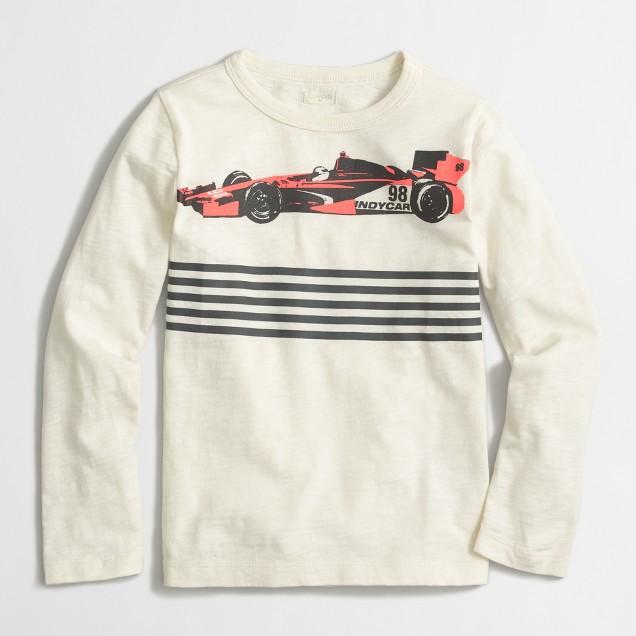Boys' long-sleeve race car storybook T-shirt