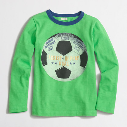 Boys' long-sleeve soccer ball storybook T-shirt