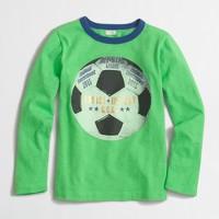 Boys' long-sleeve soccer ball storybook T-shirt