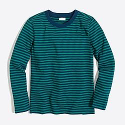 Boys' long-sleeve striped slub cotton T-shirt