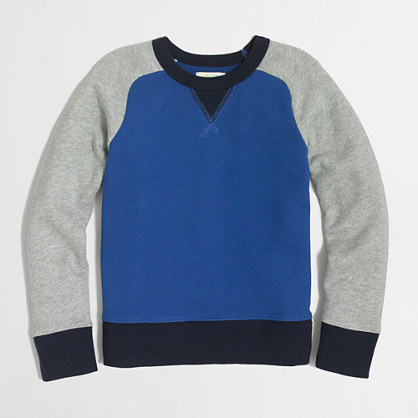 Boys' colorblock baseball sweatshirt