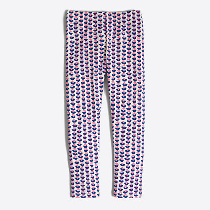 Girls' ink-drop heart leggings