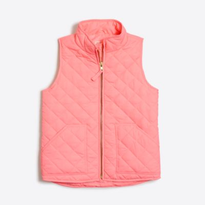 Girls' quilted puffer vest   search