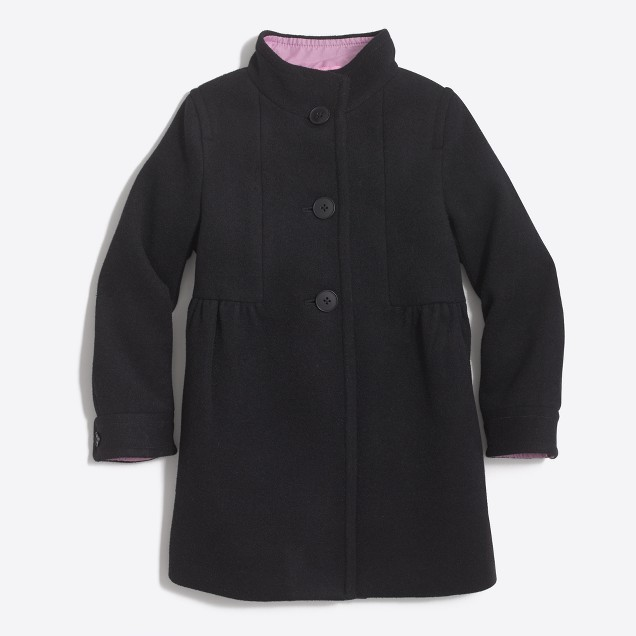 Girls' wool dress jacket