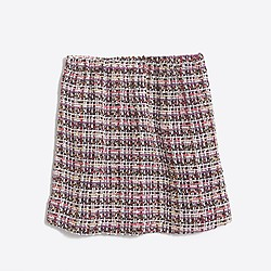 Girls' tinsel tweed skirt