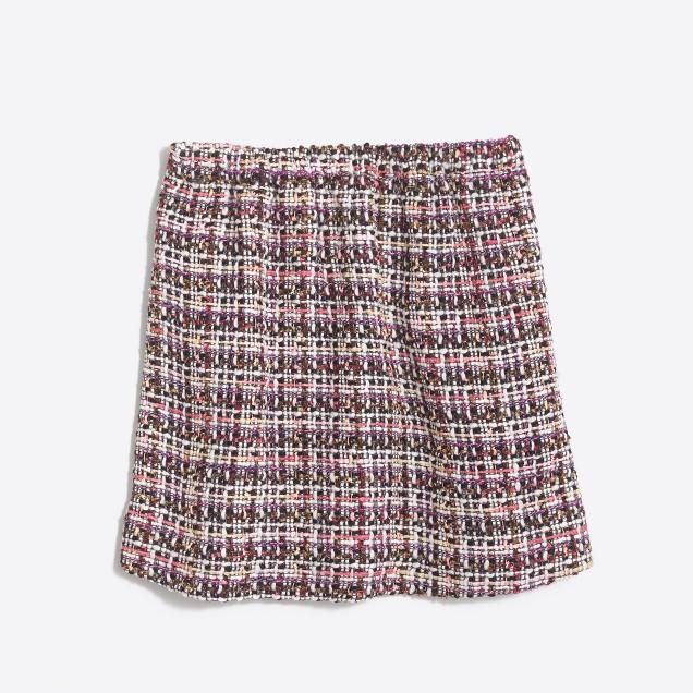 Girls' tinsel tweed skirt