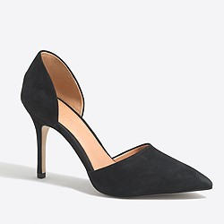 Factory suede Lana d'Orsay pumps