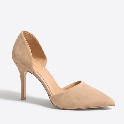 Lana suede d'Orsay pumps