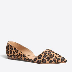 Factory calf hair Zoe d'Orsay flats