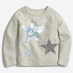 Girls' sequin star sweatshirt
