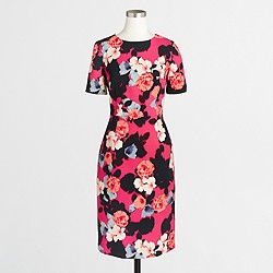 Short-sleeve printed dress
