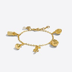 Factory girls' fruit charm bracelet