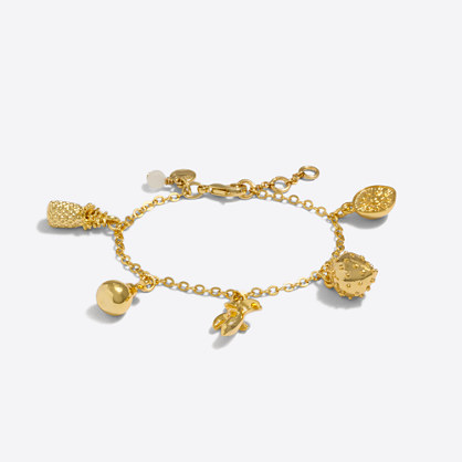 Girls' fruit charm bracelet