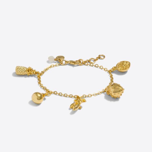 Girls' fruit charm bracelet