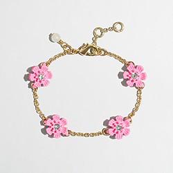 Factory girls' flower stone bracelet