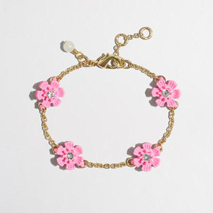Girls' flower stone bracelet
