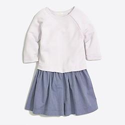 Girls' chambray sweatshirt dress