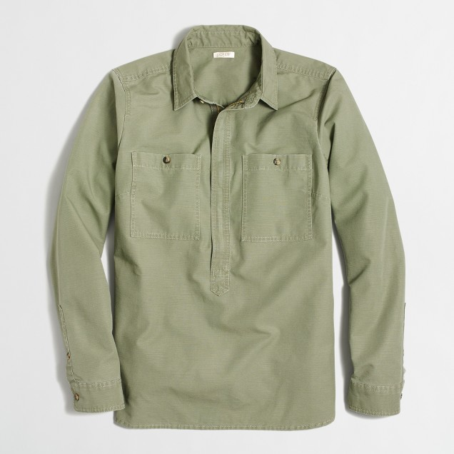 Heavyweight shirt-jacket