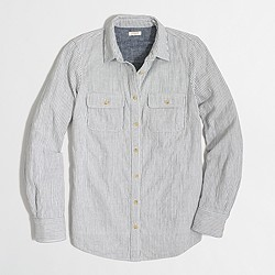 Striped heavyweight camp shirt