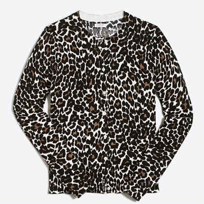 Leopard Caryn cardigan sweater