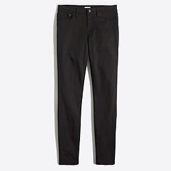 "Black skinny sateen jean with 28"" inseam"