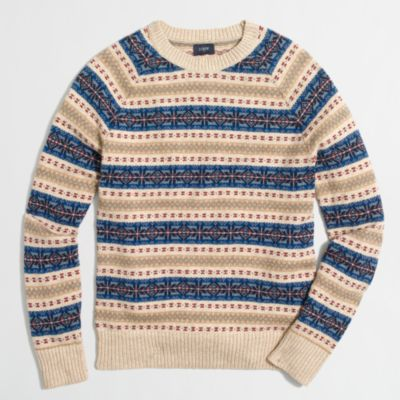 Fair Isle crewneck sweater : | Factory