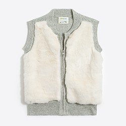 Girls' faux-fur front vest