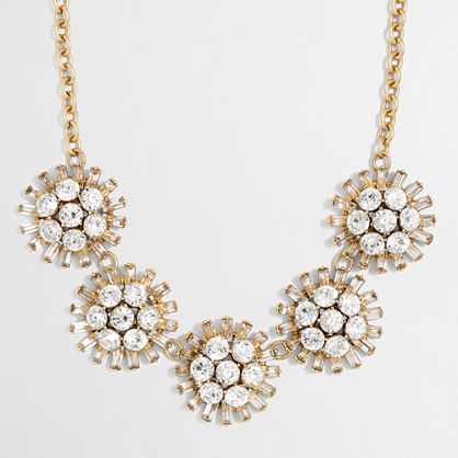 Crystal dotted sphere necklace