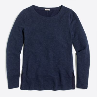 Side slit sweatshirt factorywomen knits & t-shirts c