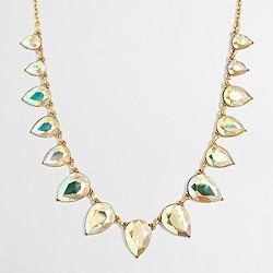 Factory iridescent teardrop necklace