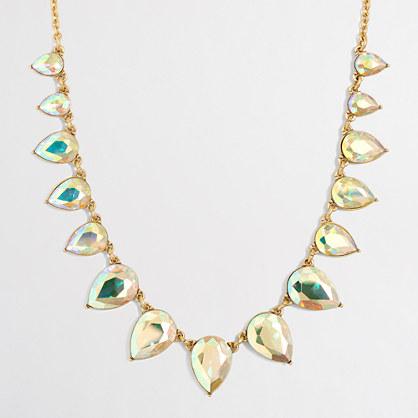 Iridescent teardrop necklace