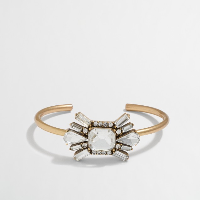 Crystal Deco cuff bracelet